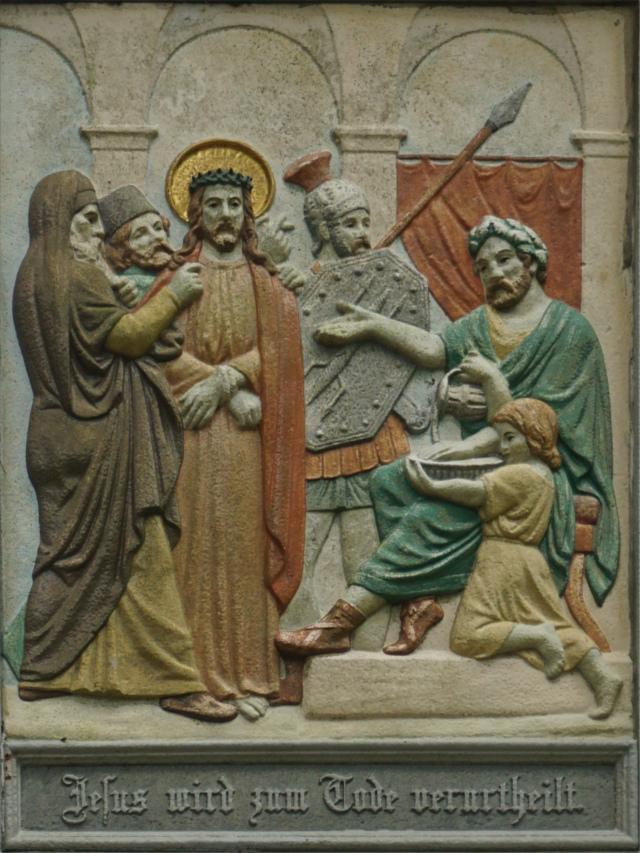 Jesus wird zum Tode verurteilt.