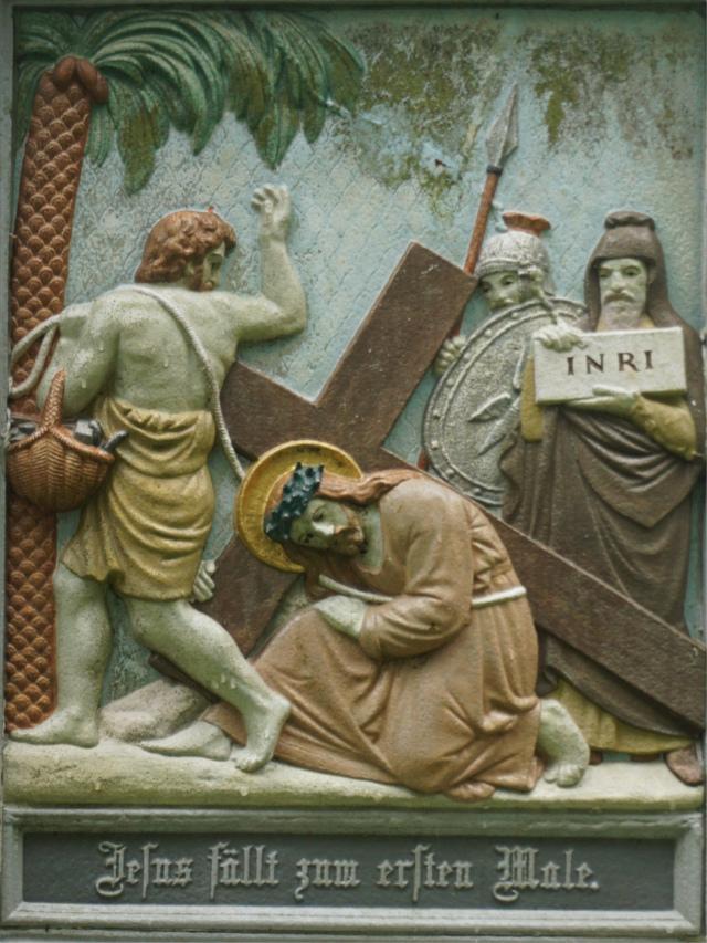 Jesus fällt zum ersten Male.