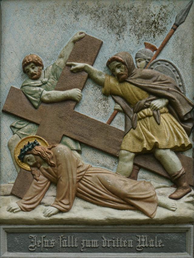 Jesus fällt zum dritten Male.